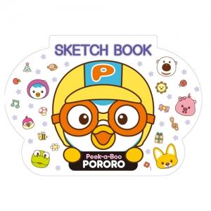 뽀로로 모양 스케치북(21매)